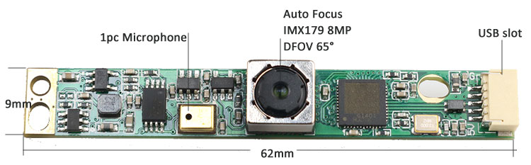 8mp IMX179 camera mdoule USB 62x9mm
