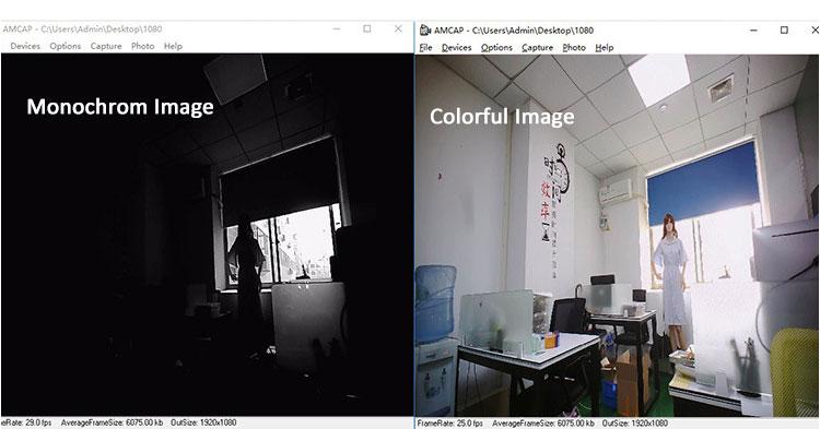 colorful and monochrome image camera module