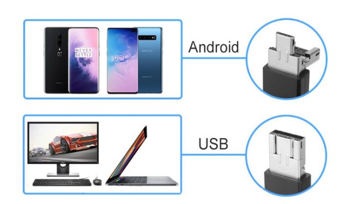 2 in 1 USB cable for endoscope