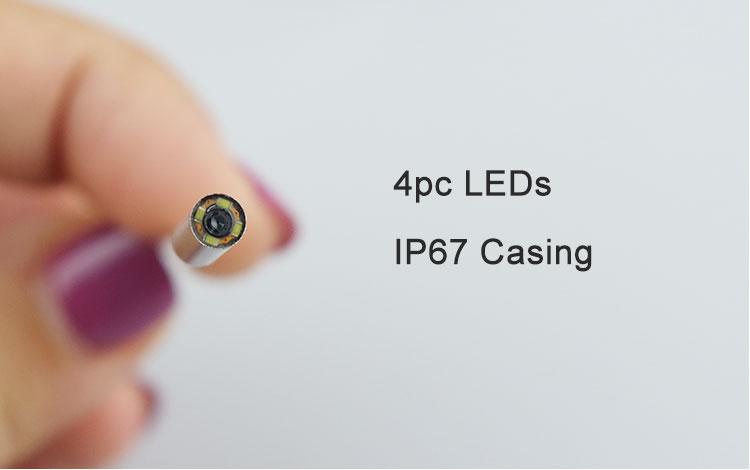 3.9MM endoscopic with 4pcs leds