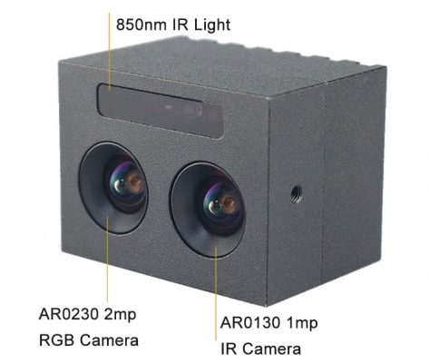AR0230 AR0130 2mp dual lens camera