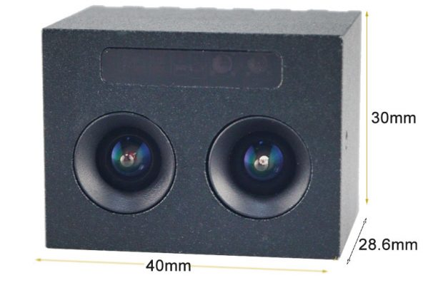 Size of dual lens camera with casing