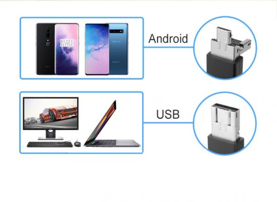 USB 2.0 Cable 2in1 Micro USB Type A