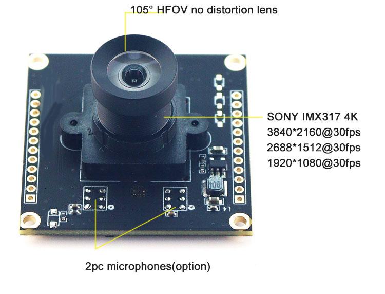 IMX317 camera 4k@30fps SONY sensor