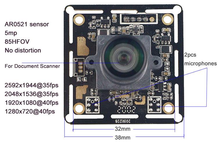 AR0521 5mp camera USB high speed