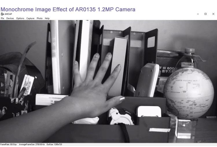 Monochrome image AR0135 YUV 720p@60fps
