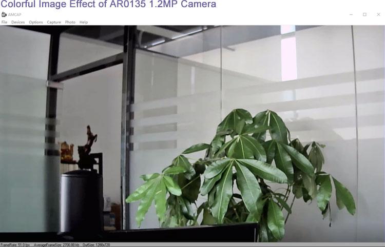 colorful image effect AR0135 camera module