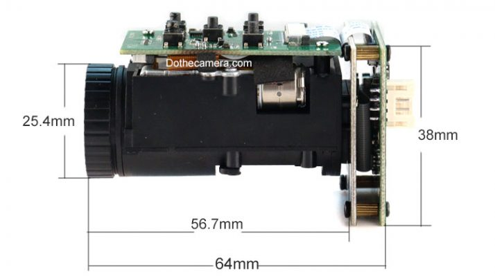 dimension of 10x opticacl zoom camera