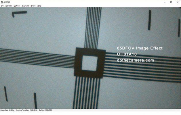 3.9mm OH01A10 Endoscope 1mp USB testing 85DFOV image effect