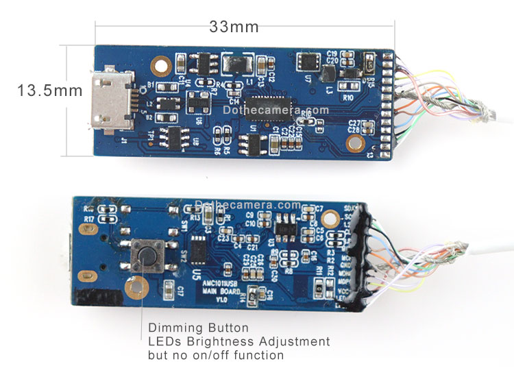 OH01A10 Endoscope pcb board size 33x13.5mm