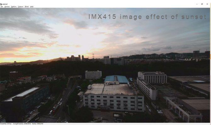 image effect sunset of IMX415